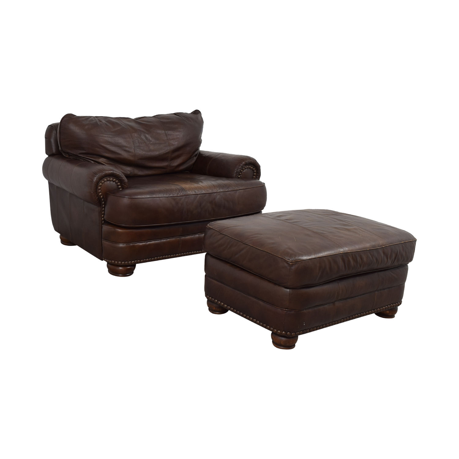 Peachy 68 Off Lane Furniture Lane Furniture Brown Leather Chair And Ottoman Chairs Evergreenethics Interior Chair Design Evergreenethicsorg