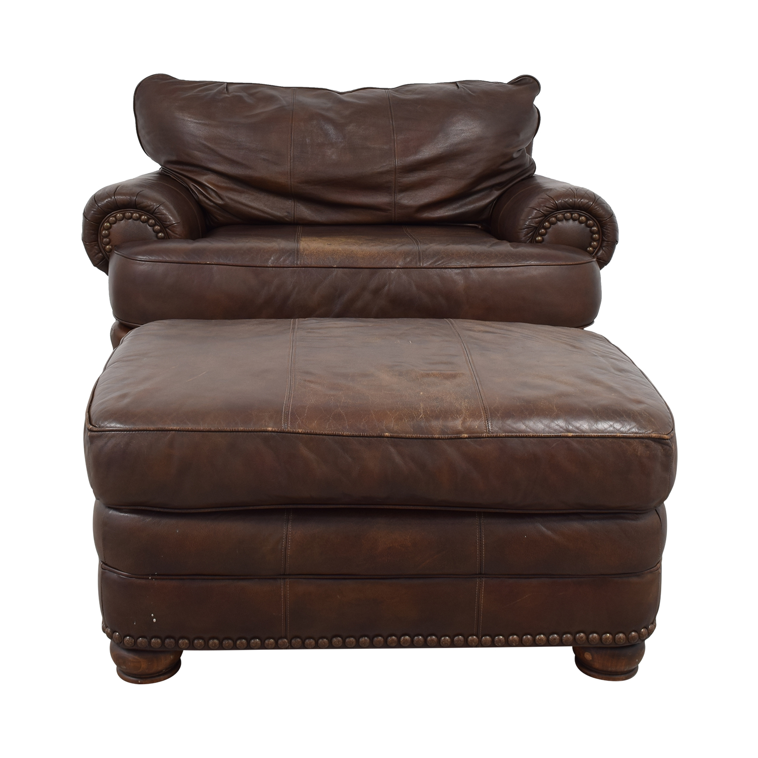 68 Off Lane Furniture Lane Furniture Brown Leather Chair And Ottoman Chairs