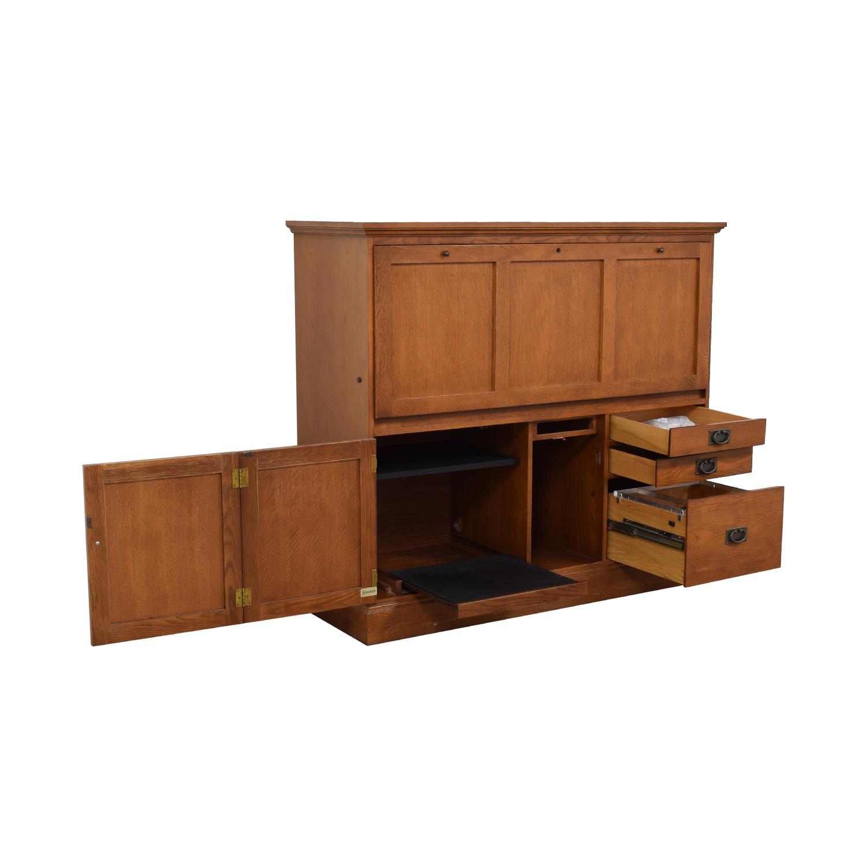 80% OFF - Hooker Furniture Hooker Furniture Cherry Desk ...