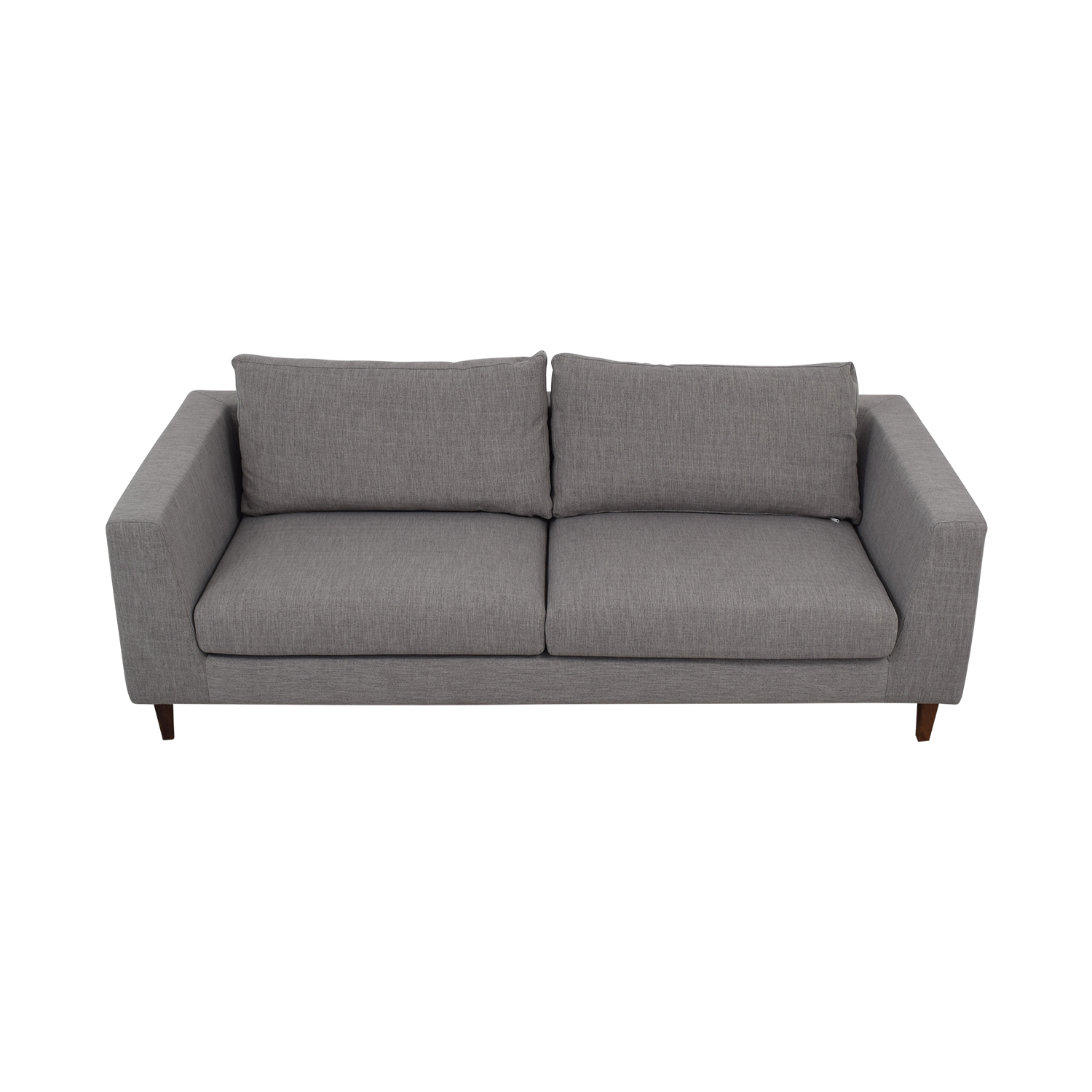 buy Asher Gray Two-Cushion Sofa  Classic Sofas