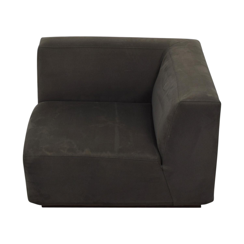shop West Elm Gray Corner Accent Chair West Elm Chaises