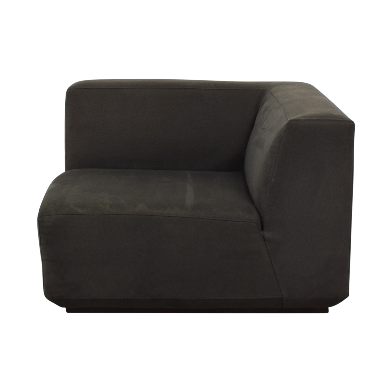 West Elm West Elm Gray Corner Accent Chair second hand