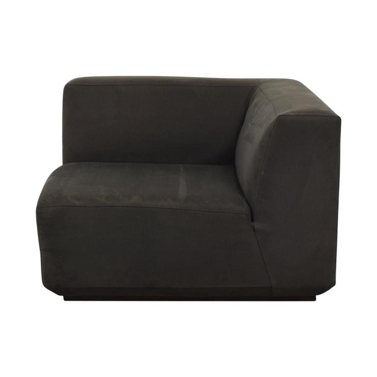 West Elm West Elm Gray Corner Accent Chair price