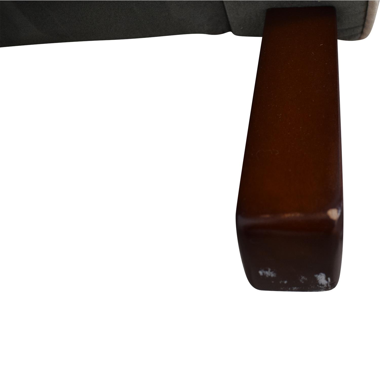 Viv + Rae Sanders Viv + Rae Sanders Grey with Beige Piping Compact Plush Rocking Chair price