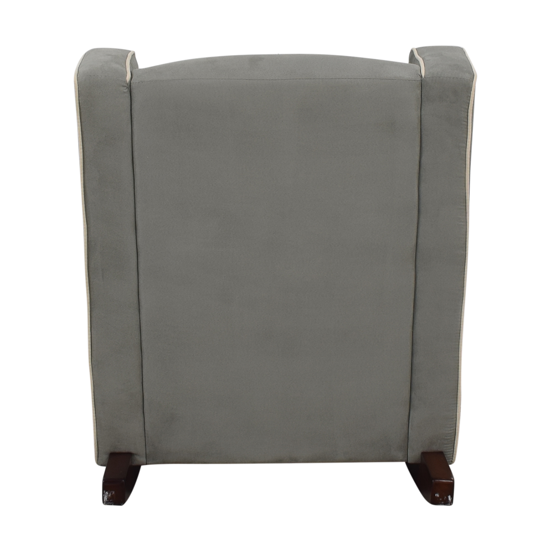 buy Viv + Rae Sanders Grey with Beige Piping Compact Plush Rocking Chair Viv + Rae Sanders Chairs