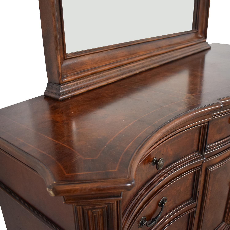 Vintage Wood Twelve-Drawer Dresser Storage