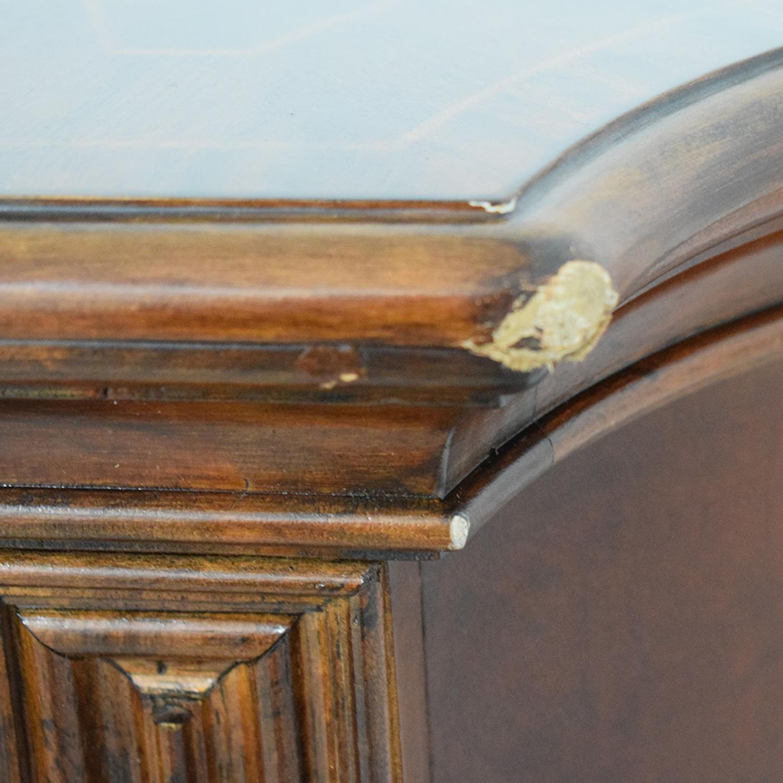 Vintage Wood Twelve-Drawer Dresser mahogany