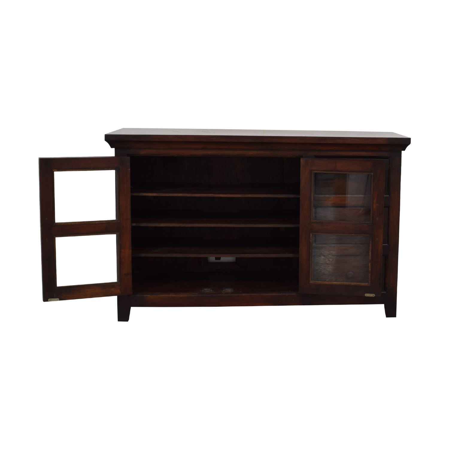 Crate & Barrel Crate & Barrel Three-Drawer Wood TV Console price