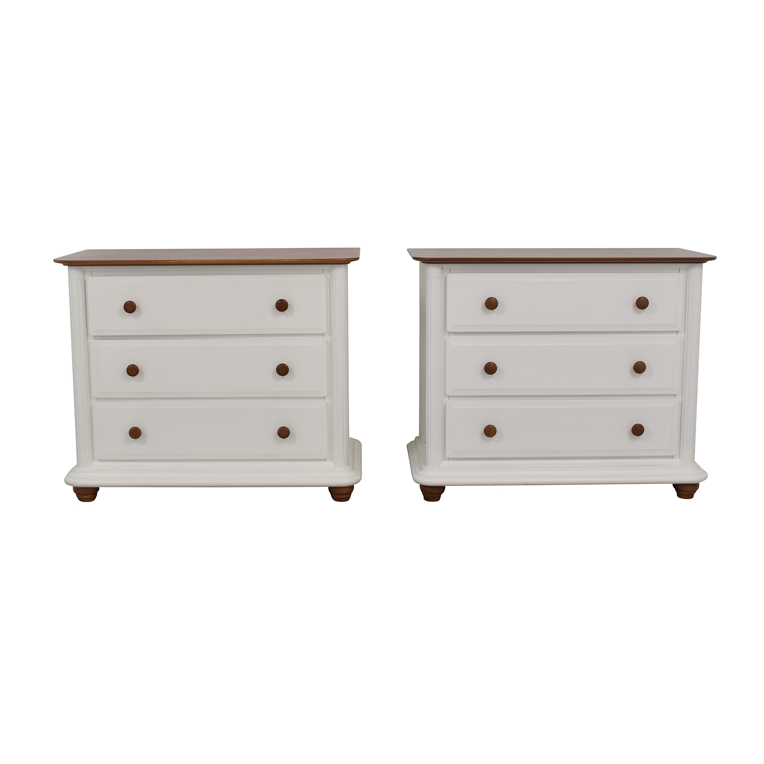 Romina Verona White Three-Drawer Dressers Romina