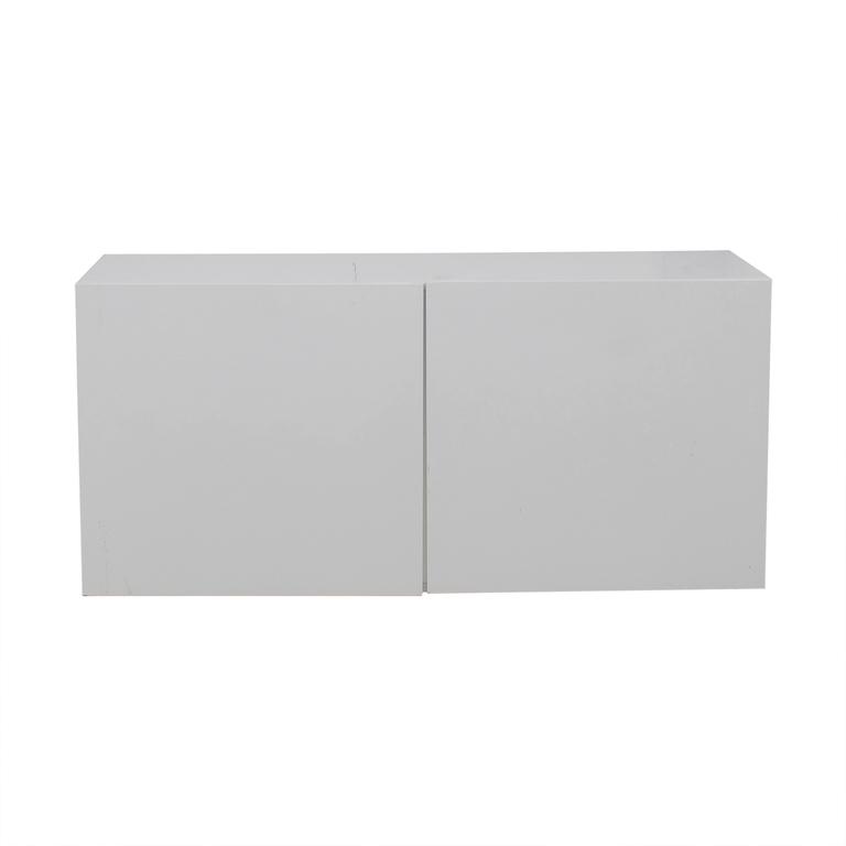 buy CB2 Fuel White Credenza CB2 Storage
