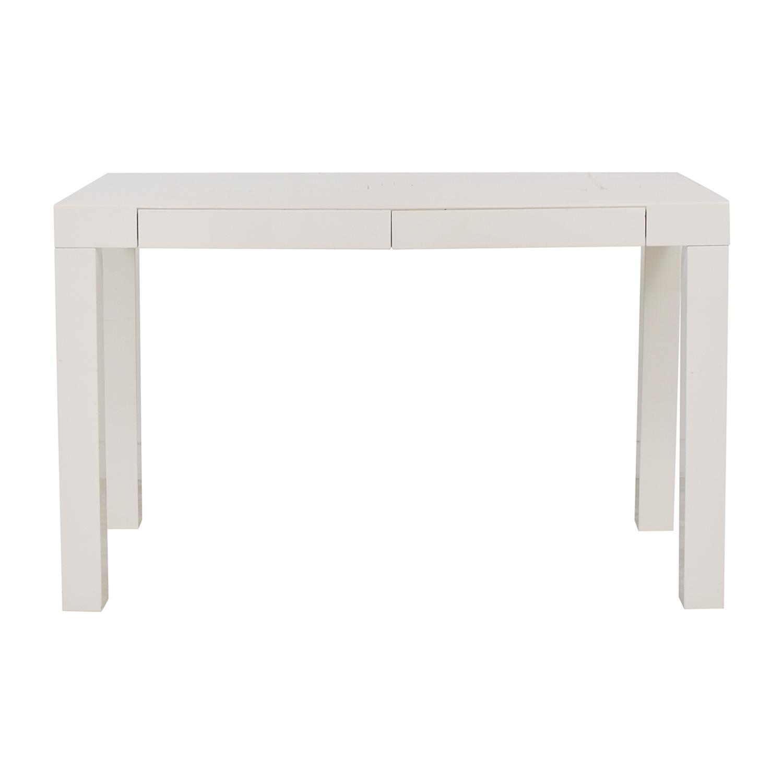 West Elm Parsons Desk West Elm Parsons White Two-Drawer Desk nj