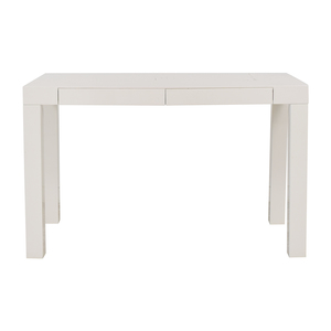 shop West Elm West Elm Parsons White Two-Drawer Desk online