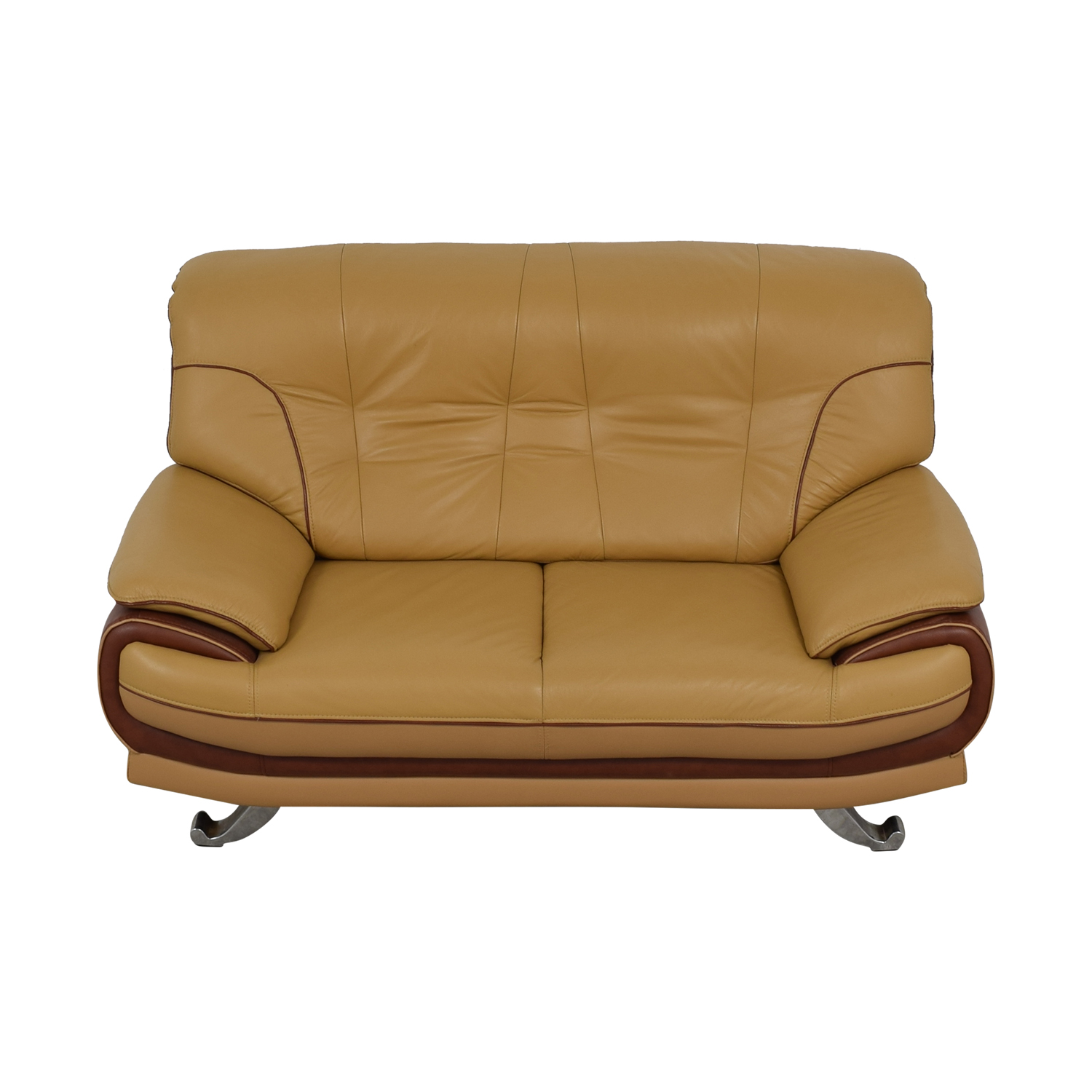 AE Furniture AE Furniture Brown and Beige Loveseat brown and beige