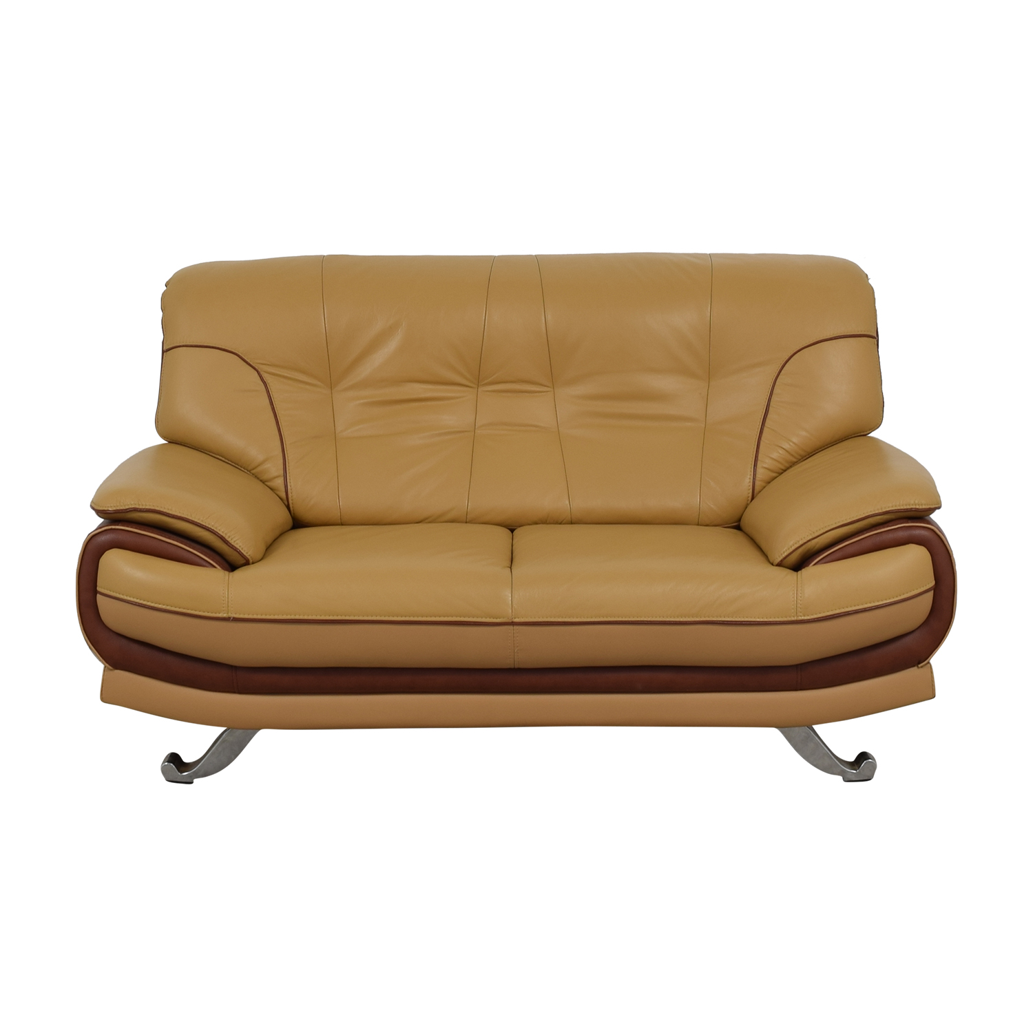 AE Furniture AE Furniture Brown and Beige Loveseat nj