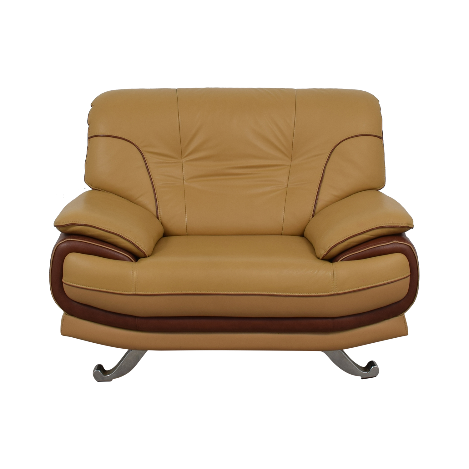 AE Furniture AE Furniture Brown and Tan Accent Chair price