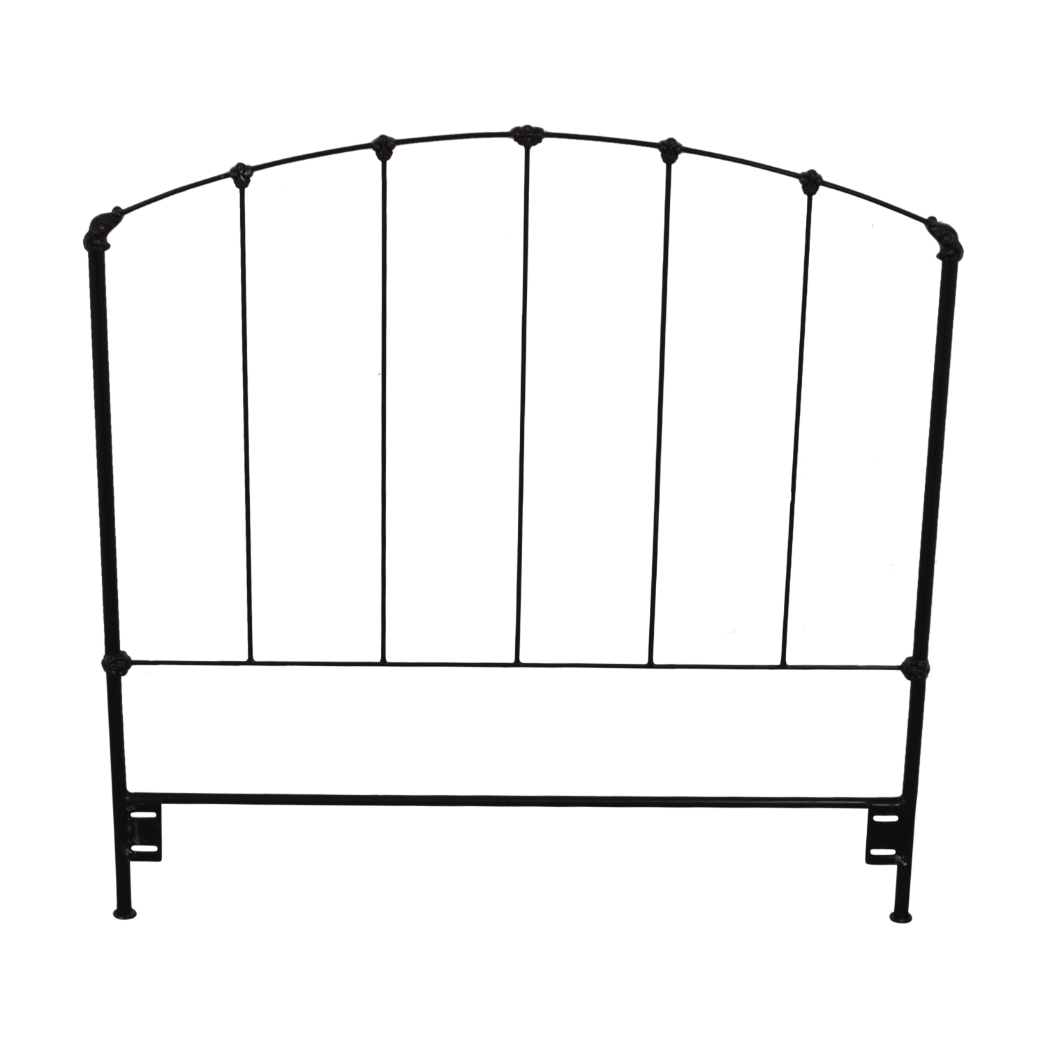 Charles P. Rogers Charles P. Rogers Rutherford Black Wrought Iron Full Headboard dimensions