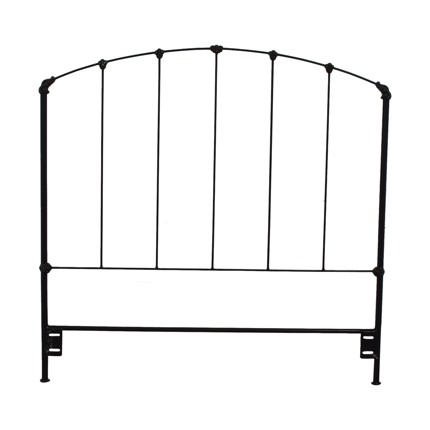 Charles P. Rogers Rutherford Black Wrought Iron Full Headboard / Headboards