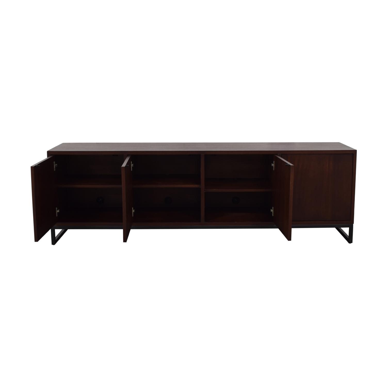 Desiron Desiron Wood Two Drawer and Shelves Credenza Storage