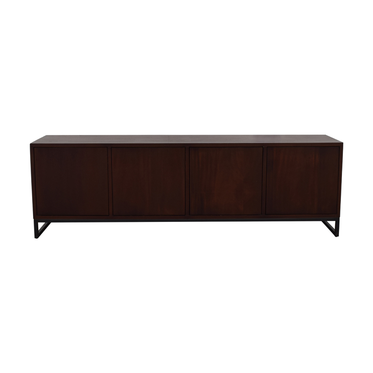 shop Desiron Wood Two Drawer and Shelves Credenza Desiron