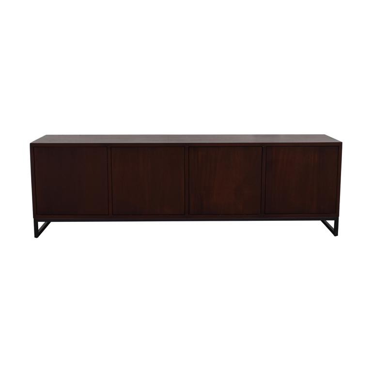 buy Desiron Wood Two Drawer and Shelves Credenza Desiron
