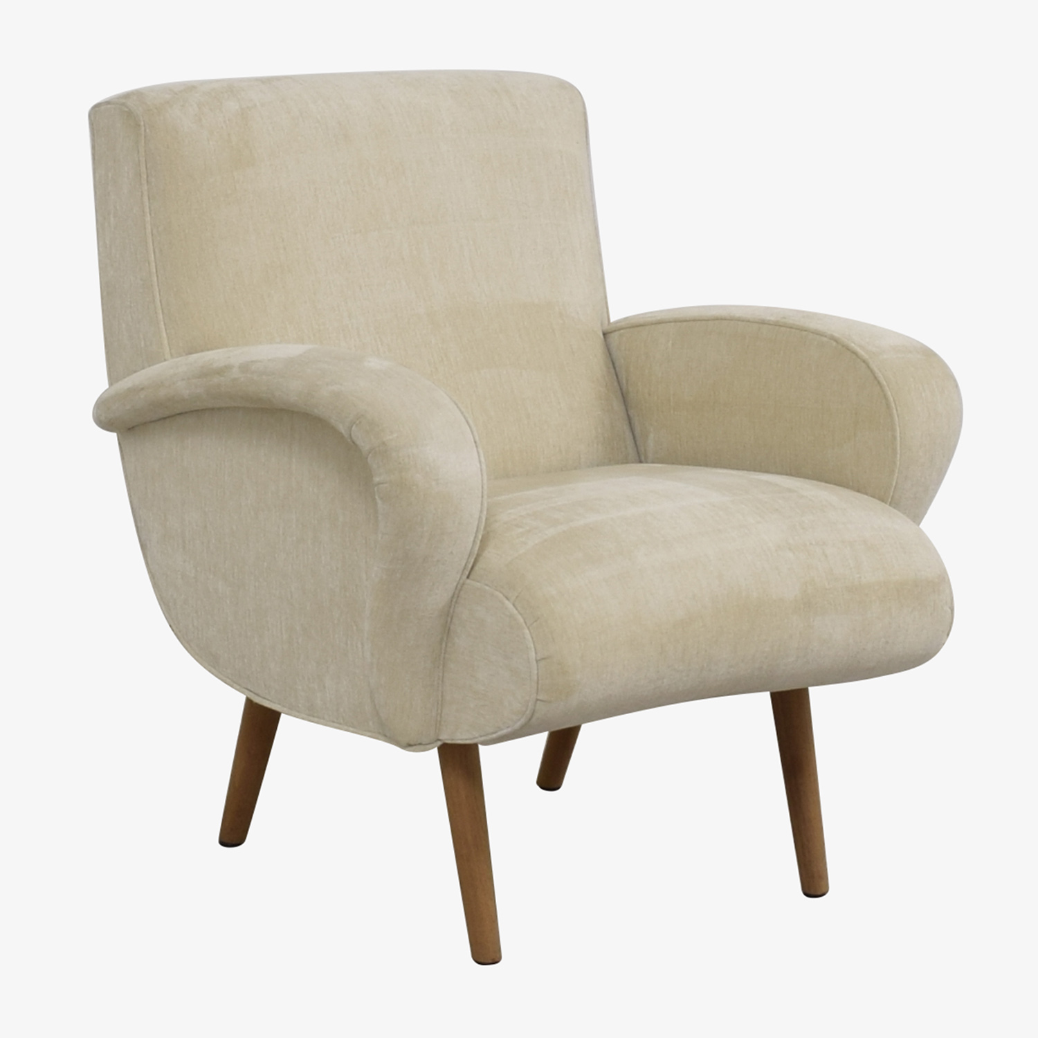 Pleasant 89 Off Furniture Masters Furniture Masters Beige Upholstered Wing Accent Chair Chairs Ibusinesslaw Wood Chair Design Ideas Ibusinesslaworg