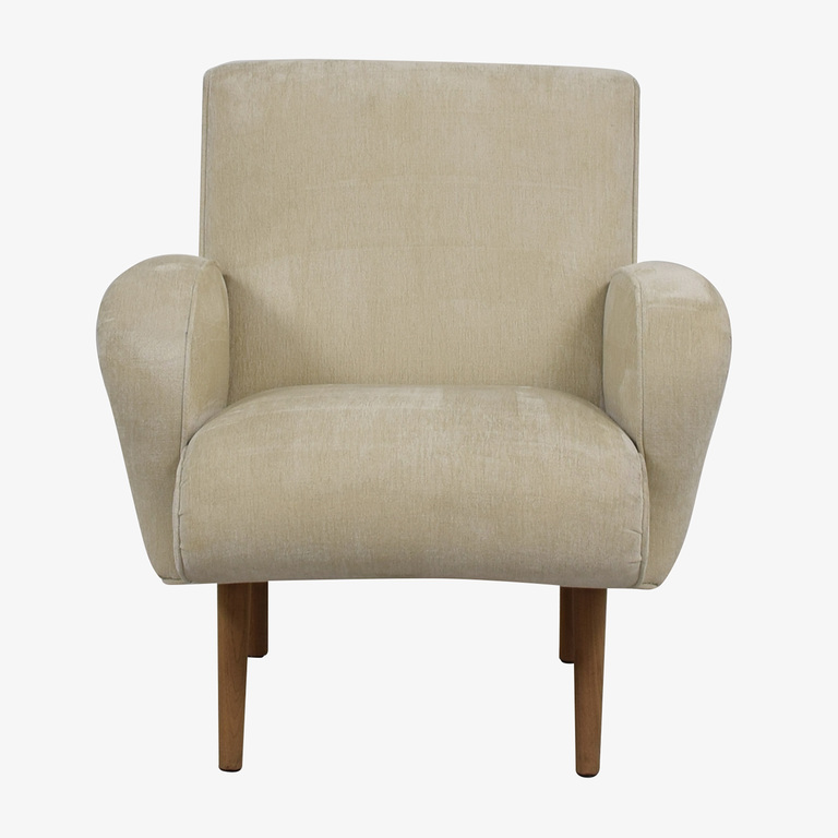Furniture Masters Furniture Masters Beige Upholstered Wing Accent Chair nyc