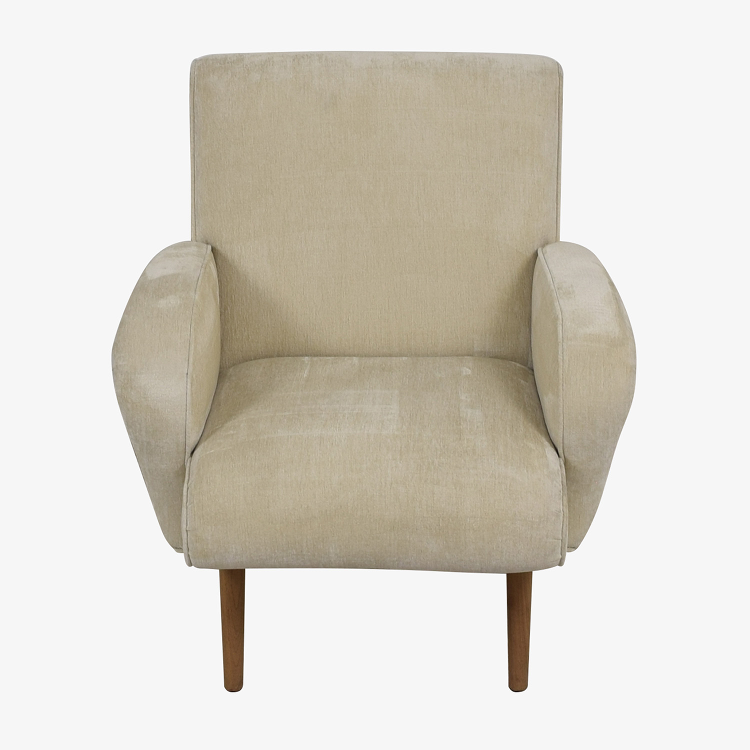 Tremendous 89 Off Furniture Masters Furniture Masters Beige Upholstered Wing Accent Chair Chairs Ibusinesslaw Wood Chair Design Ideas Ibusinesslaworg