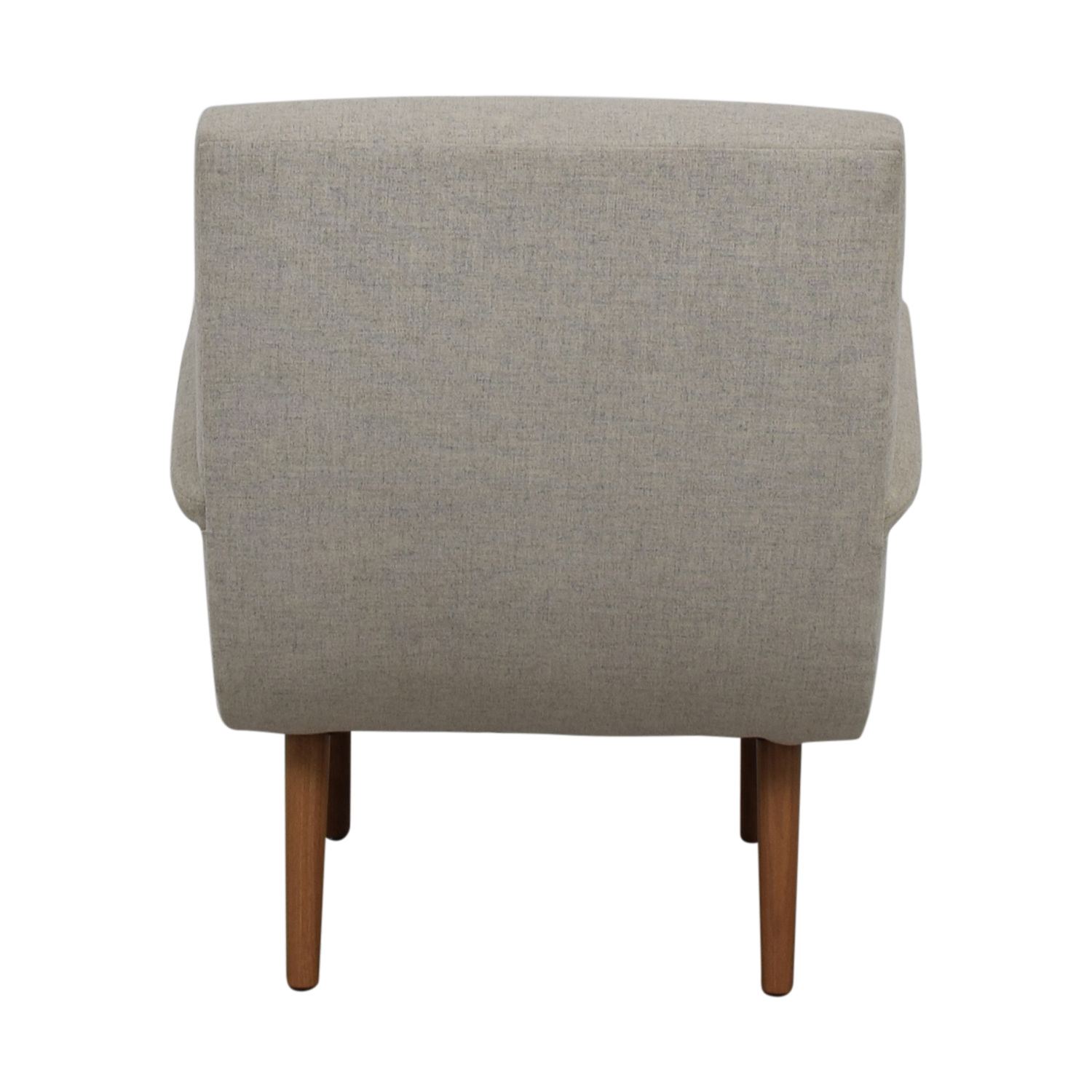 Furniture Masters Furniture Masters Grey Microfiber Wing Accent Chair