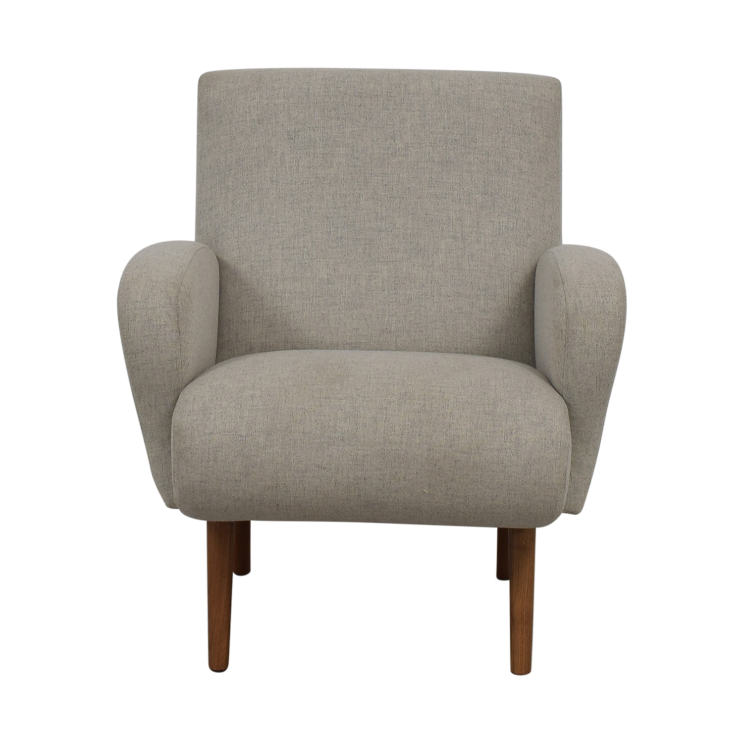 Furniture Masters Furniture Masters Grey Microfiber Wing Accent Chair nyc