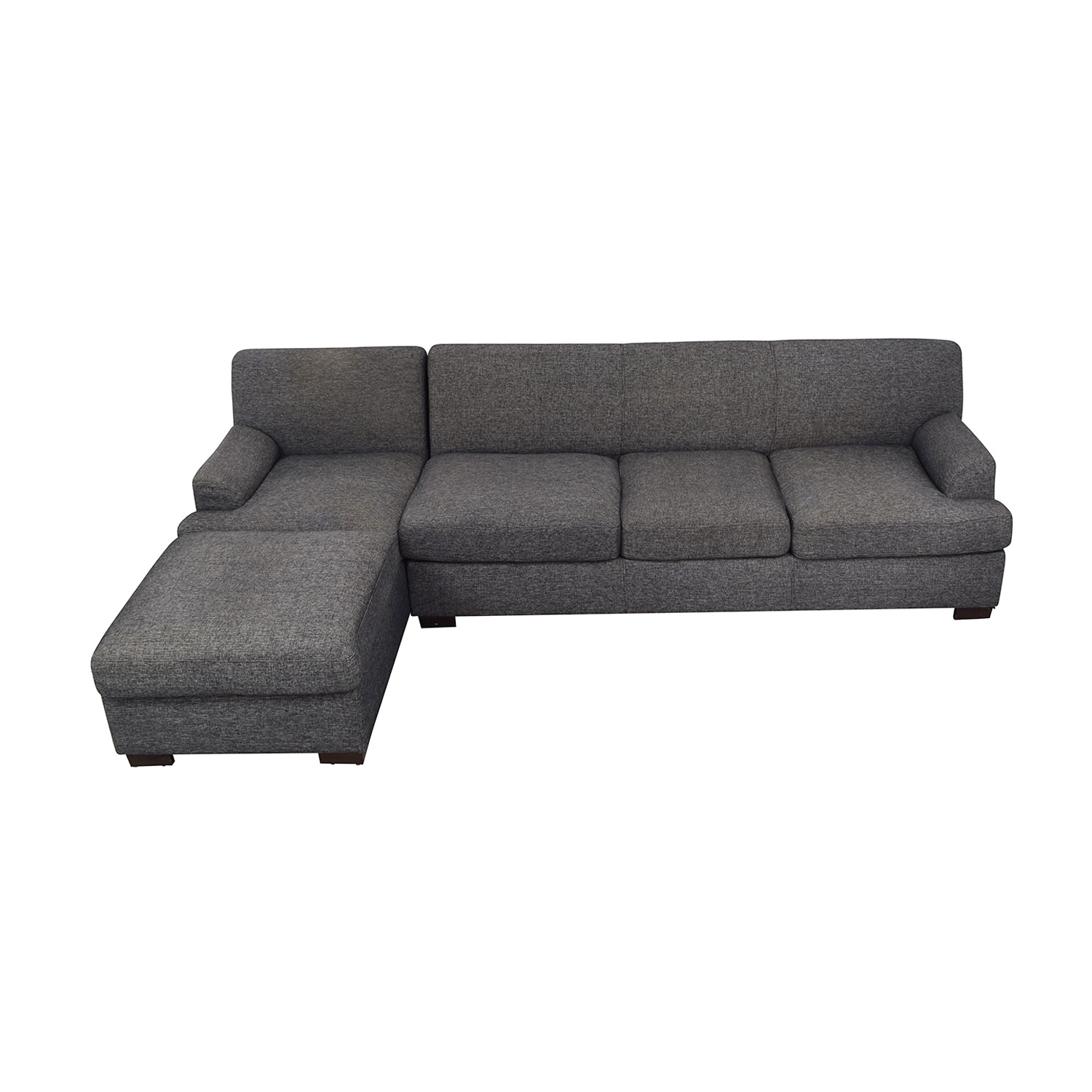 shop Grey Chaise Sectional Sofa  Sofas