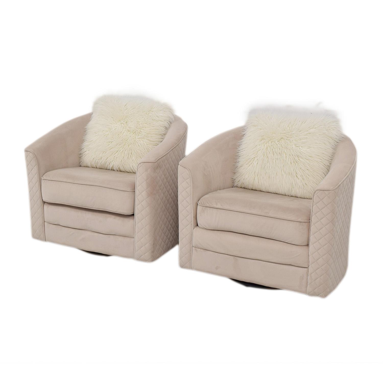 86 off wayfair wayfair cream color swivel chairs chairs. Black Bedroom Furniture Sets. Home Design Ideas