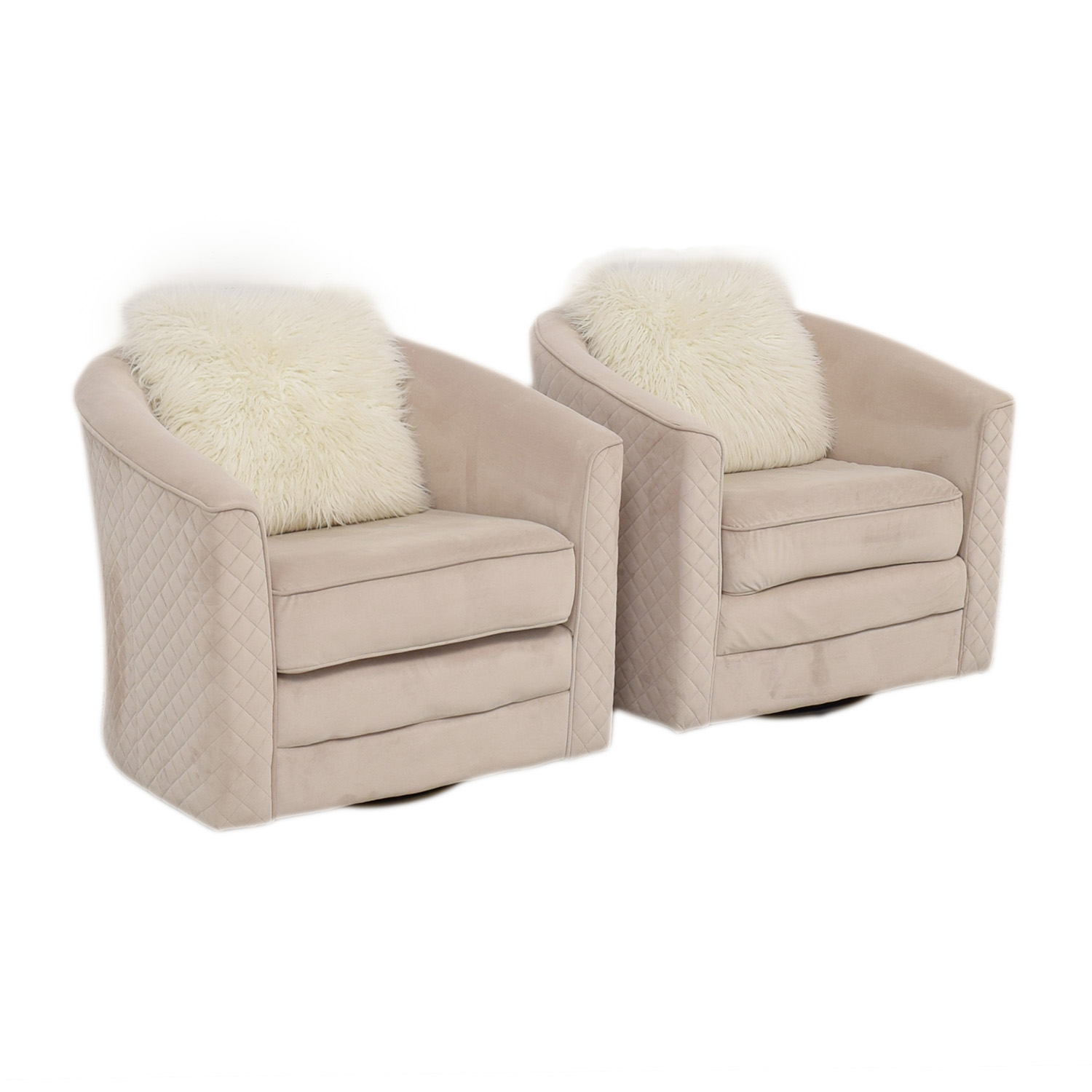 Strange 86 Off Wayfair Wayfair Cream Color Swivel Chairs Chairs Caraccident5 Cool Chair Designs And Ideas Caraccident5Info
