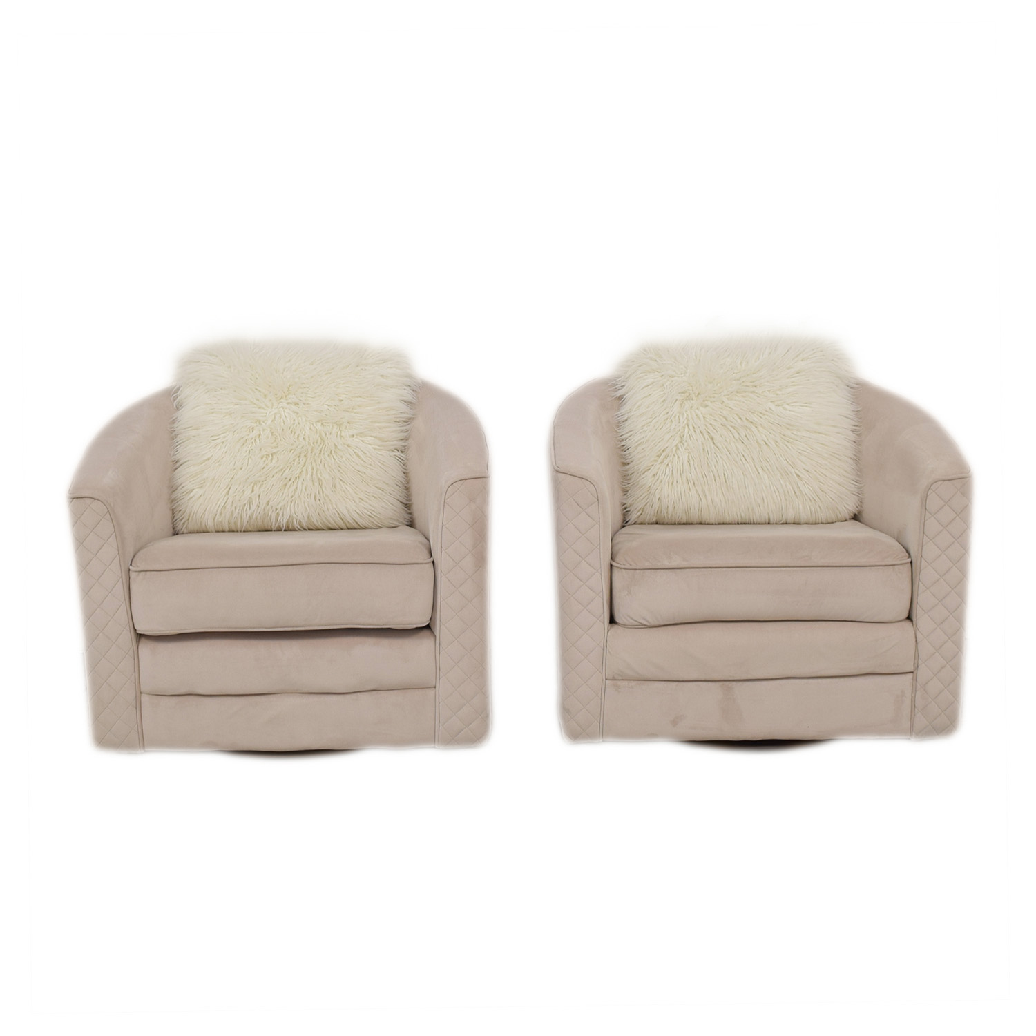 Wayfair Cream Color Swivel Chairs sale