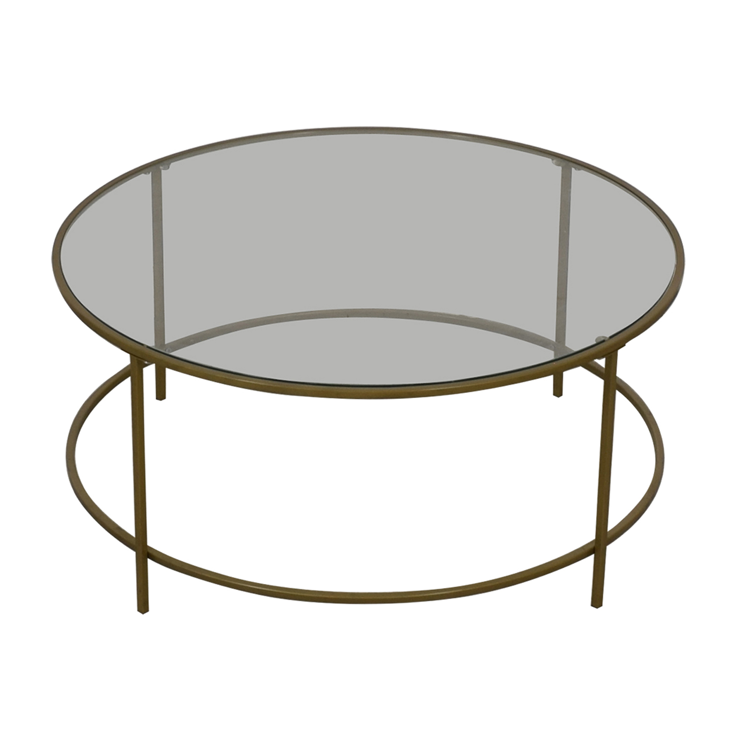 buy Wayfair Wayfair Glass and Brass Coffee Table online