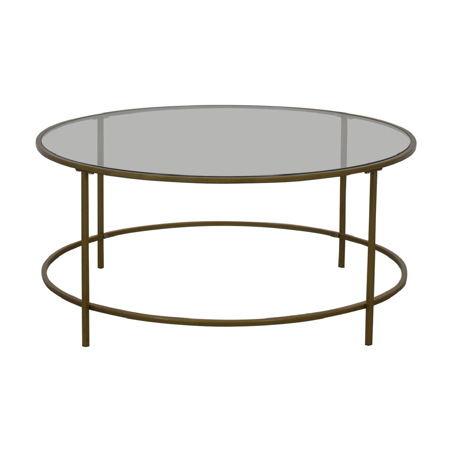 Wayfair Wayfair Glass and Brass Coffee Table second hand