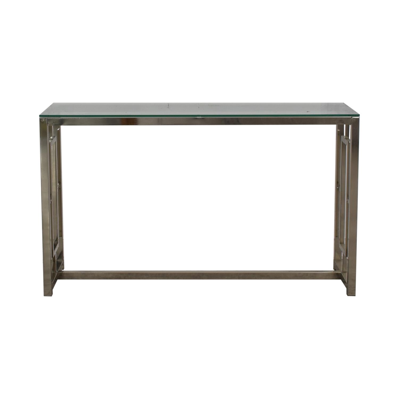 shop Wayfair Glass and Chrome Console Table Wayfair