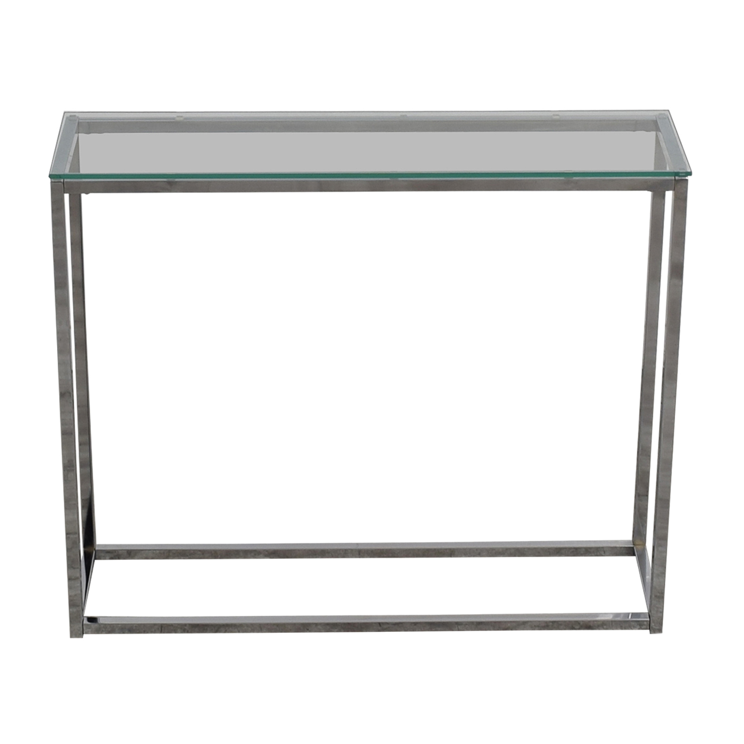 buy Wayfair Glass and Chrome Console Table Wayfair