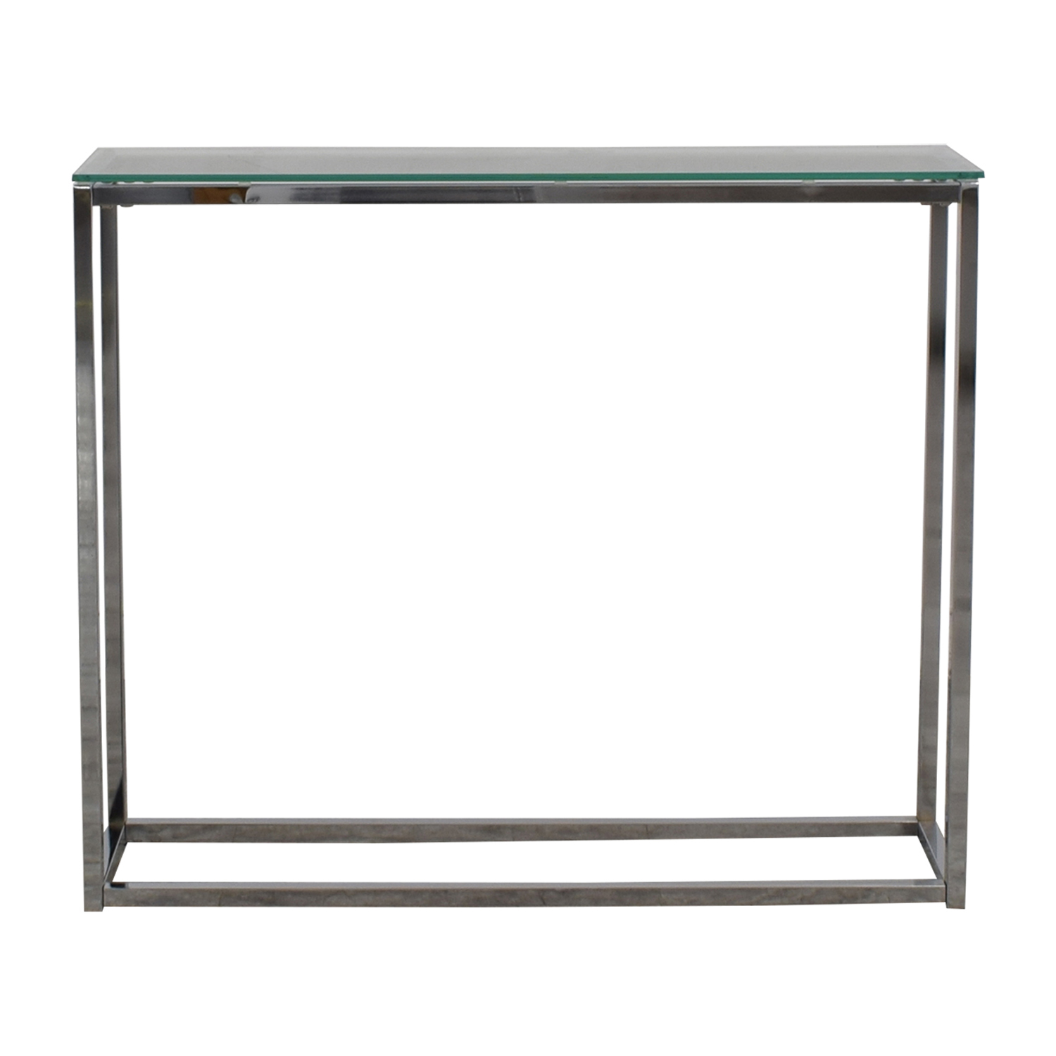 Wayfair Wayfair Glass and Chrome Console Table second hand