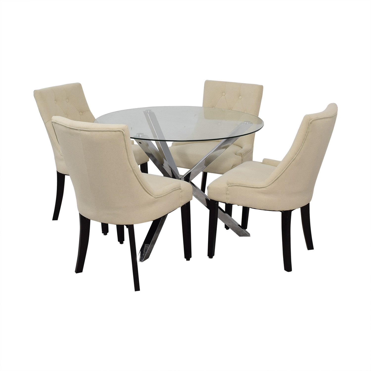 Wayfair Wayfair Round Glass Dining Set Dining Sets
