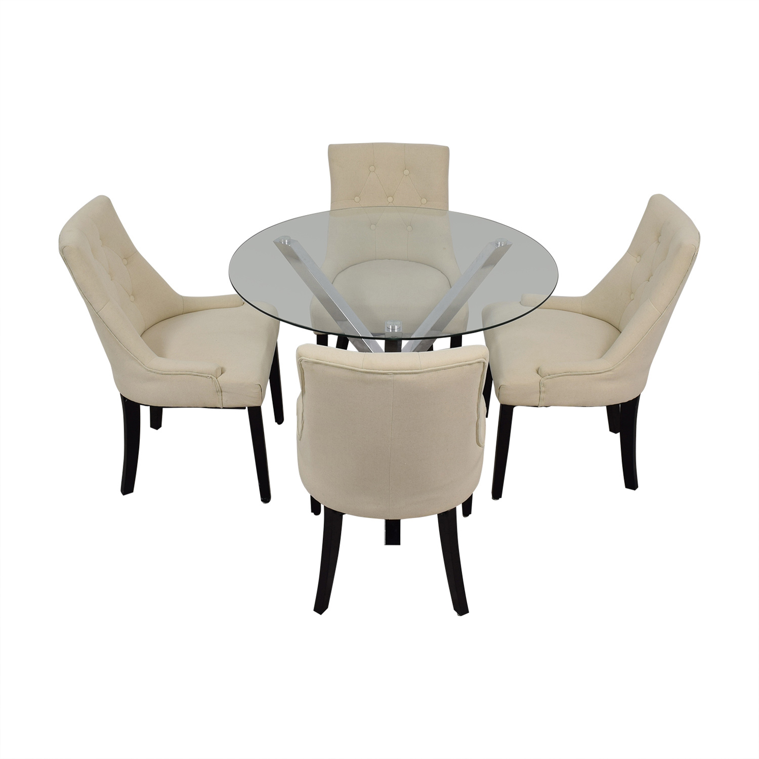 shop Wayfair Round Glass Dining Set Wayfair Dining Sets