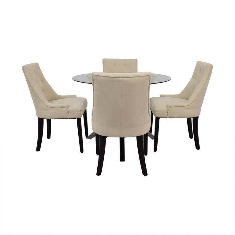 Wayfair Wayfair Round Glass Dining Set