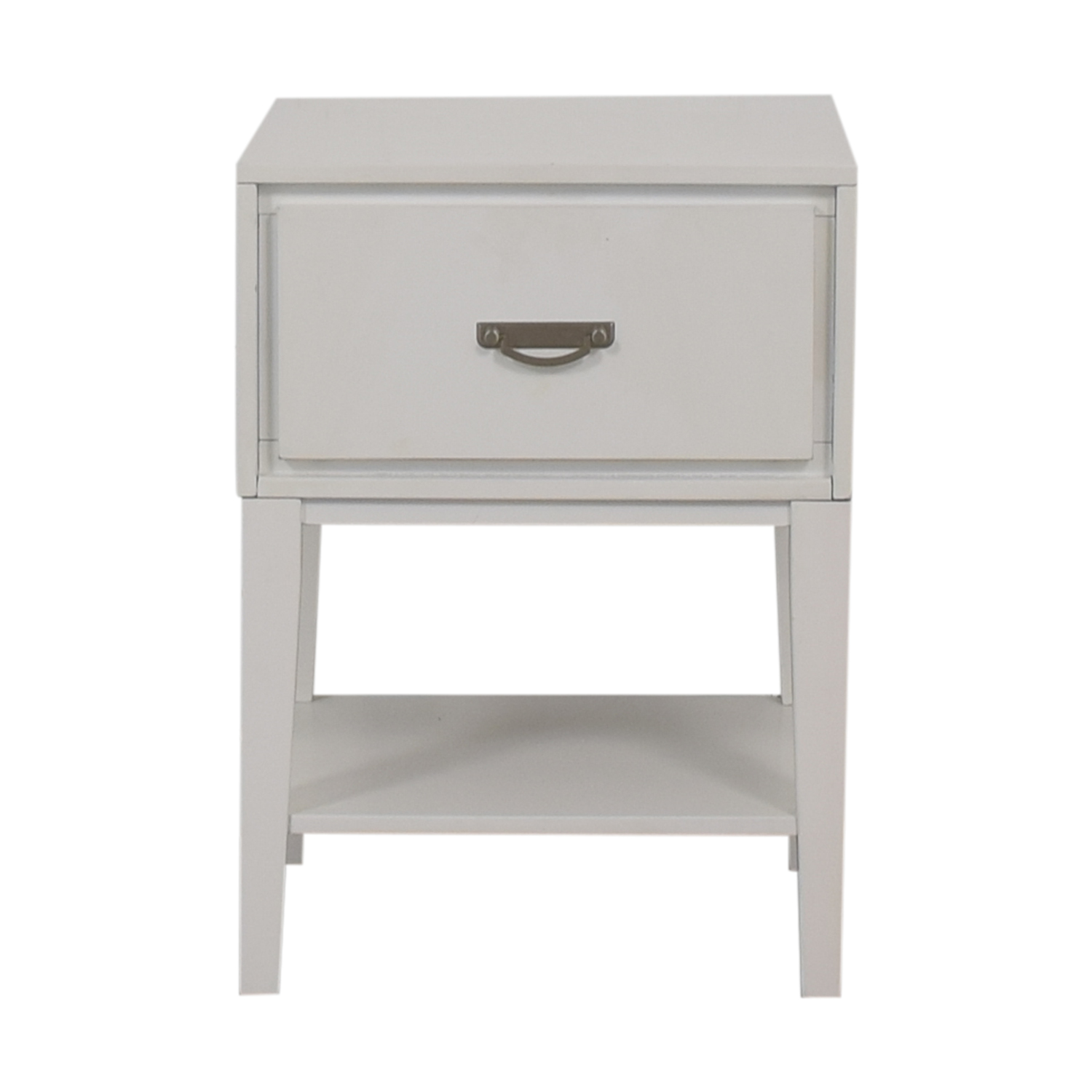 shop Greenworld White Single Drawer Nightstand Greenworld