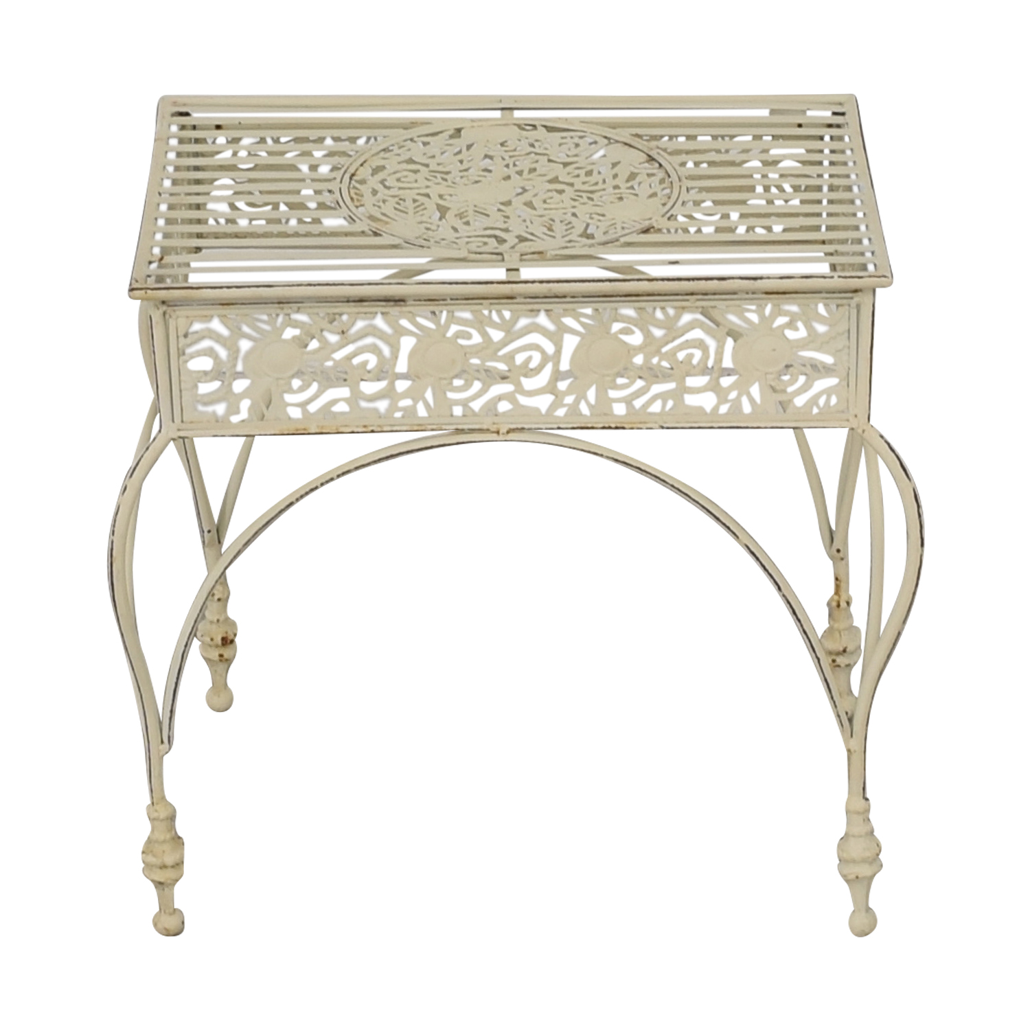 shop  Off White Scrolled Metal Side Table online