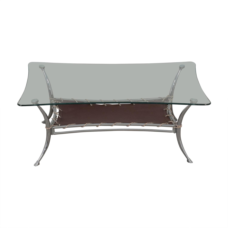 AE Furniture AE Furniture Glass and Metal Coffee Table on sale