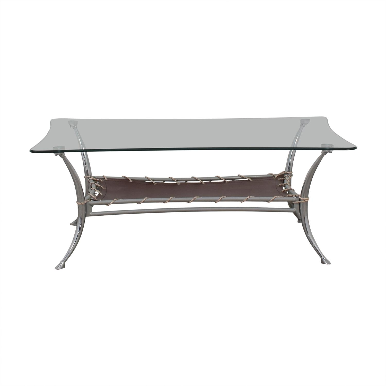 AE Furniture AE Furniture Glass and Metal Coffee Table nj