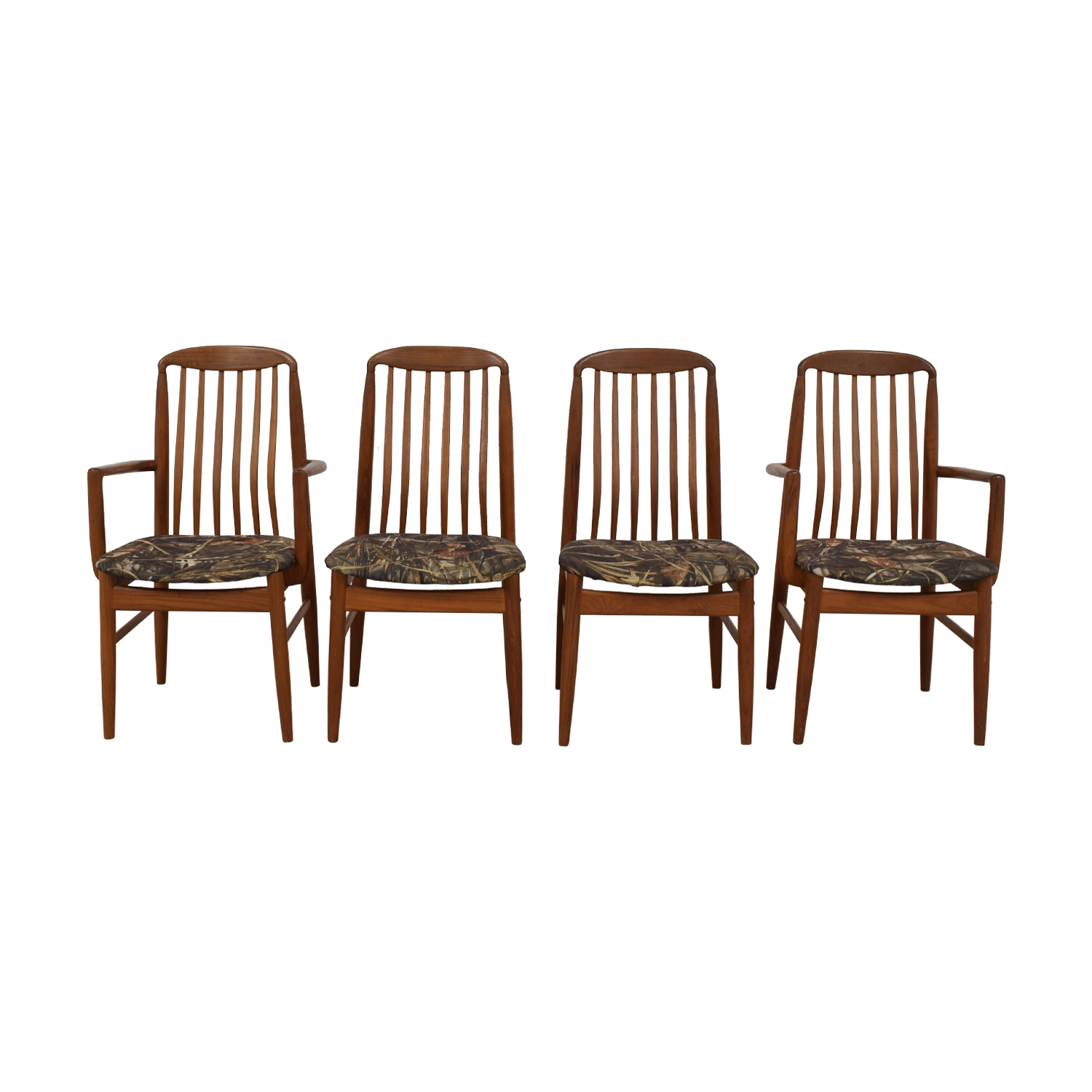 Scan Design Scan Design Danish Wood Curved Back Dining Chairs price