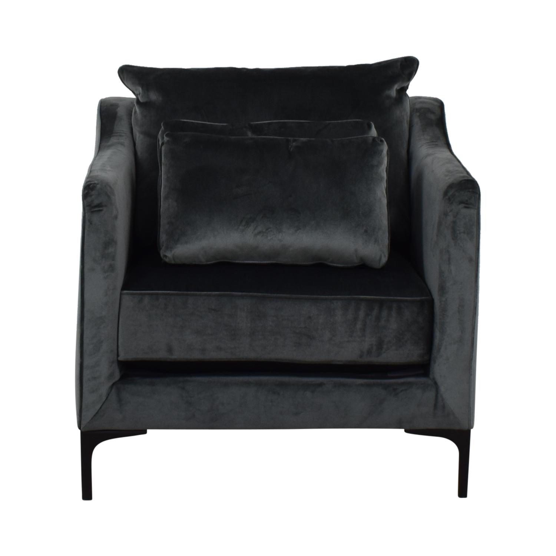 Caitlin Petite Green Velvet Accent Chair for sale