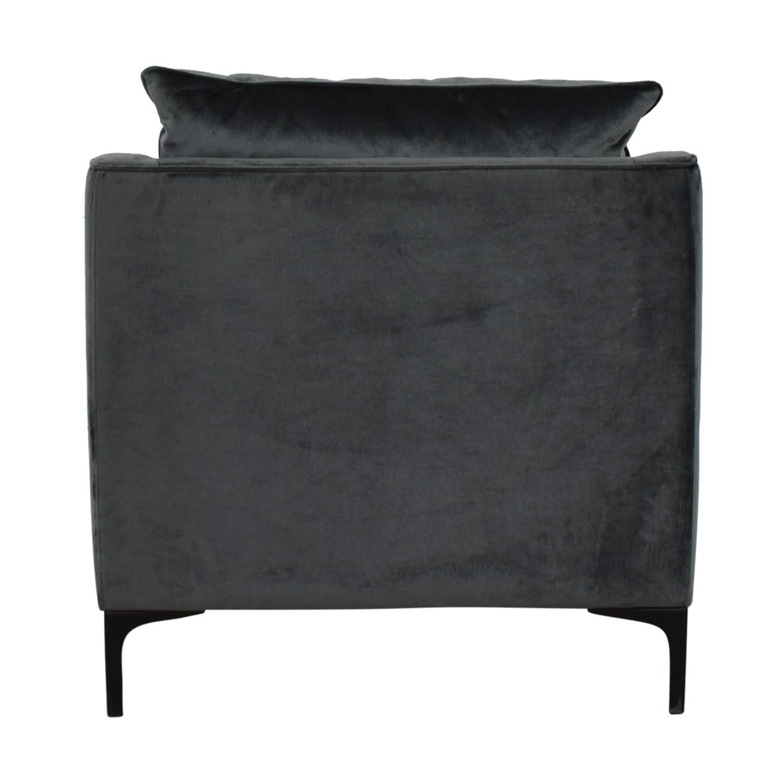Caitlin Petite Green Velvet Accent Chair sale