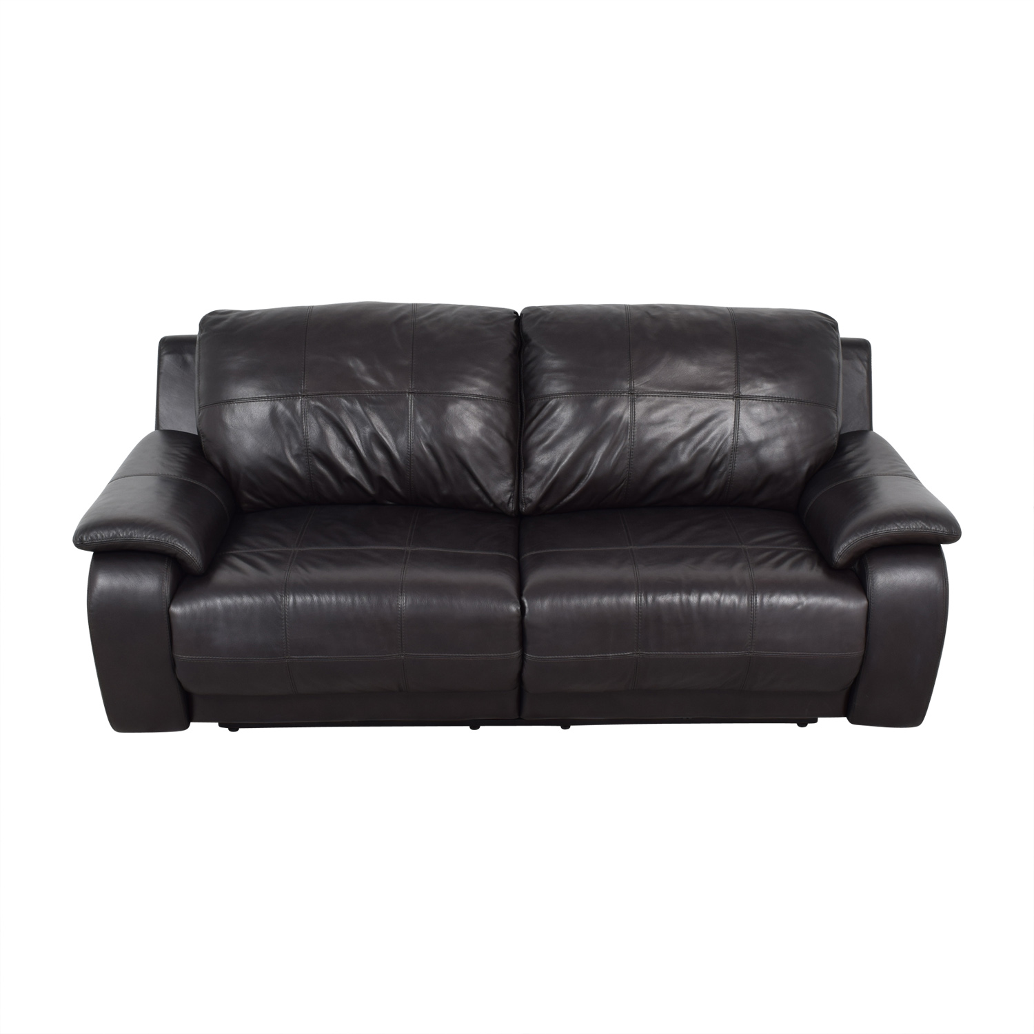 Raymour & Flanigan Black Two-Cushion Power Reclining Sofa / Chairs