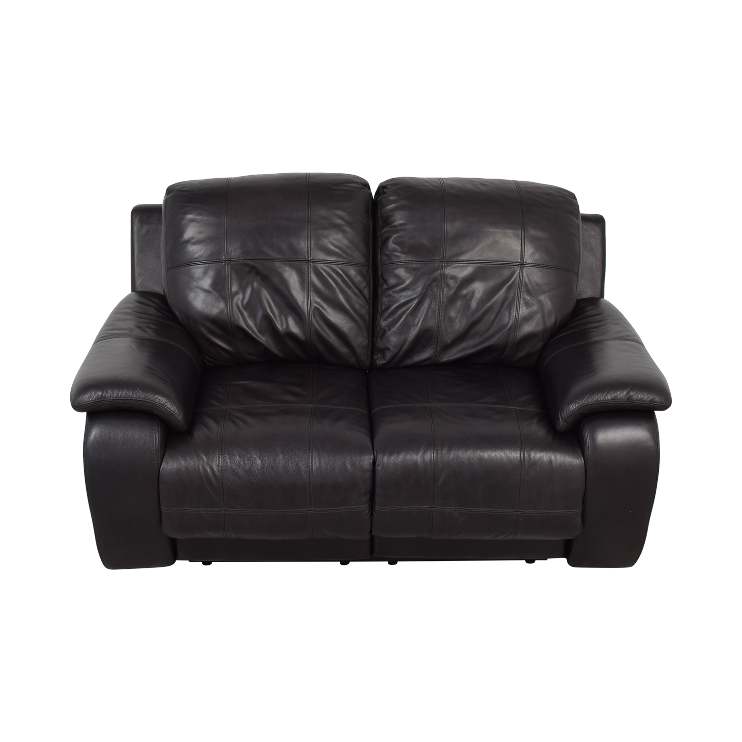 buy Raymour & Flanigan Black Power Recliner Loveseat Raymour & Flanigan